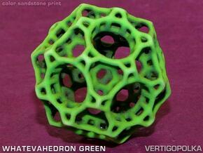 Whatevahedron green in Full Color Sandstone