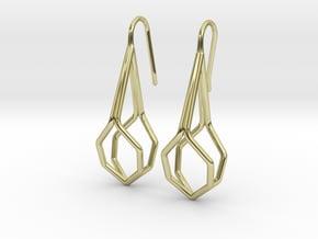 A-Line Honey Earrings. Fine Elegance. in 18k Gold Plated Brass