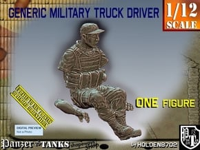1/12 Generic Truck Driver 005 in White Natural Versatile Plastic