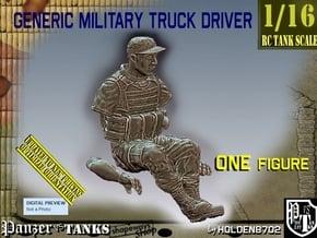1/16 Generic Truck Driver 005 in White Natural Versatile Plastic