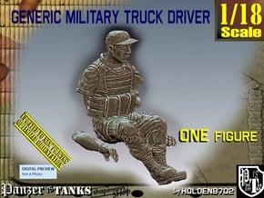 1/18 Generic Truck Driver 005 in White Natural Versatile Plastic