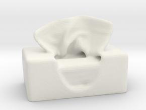 Tissue Box in White Natural Versatile Plastic
