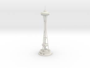 Seattle Space Needle (1:2000) in White Natural Versatile Plastic