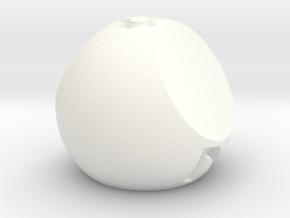 d3 Sphere Dice - Jumbo in White Processed Versatile Plastic