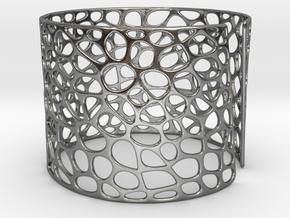 Voronoi Bracelet (Sizes S M L) #unique in Polished Silver: Medium