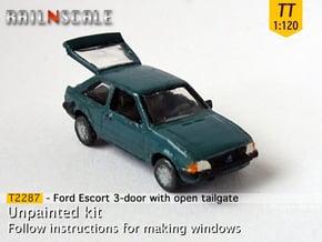 Ford Escort 3-Türer mit offener Heckklappe (TT) in Smooth Fine Detail Plastic