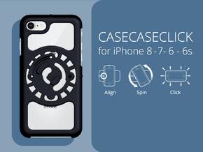 for iPhone 8-7-6-6s : core : CASECASE CLICK in Black Natural Versatile Plastic