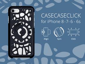 for iPhone 8-7-6-6s : geo : CASECASE CLICK in Black Natural Versatile Plastic