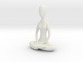 Yoga Lotus  in White Natural Versatile Plastic
