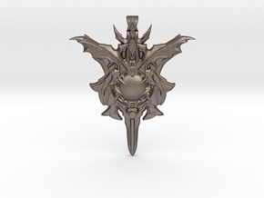 Power-Up Pendant: The Wraith in Polished Bronzed Silver Steel