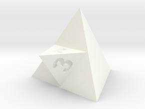 Merged Dice in White Processed Versatile Plastic: d3