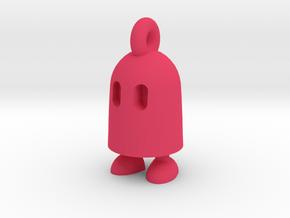 Obb keychain in Pink Processed Versatile Plastic