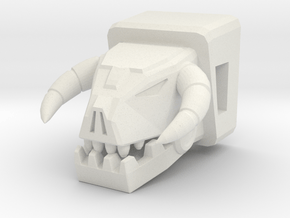 Horri-Bull Head for Shuffler/Ramhorn in White Natural Versatile Plastic