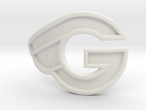 G-bicycle front logo in White Natural Versatile Plastic