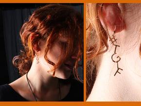 #Hashtag-Earring - #TGIF (Single) in Polished Brass