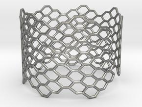 Morphology Bracelet (long) (Sizes S M L) #unique  in Natural Silver: Medium