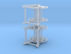 Storage Drum (2pcs) in Smooth Fine Detail Plastic