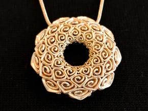 Java Bunga Pendant  in Polished Brass