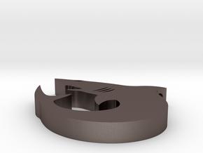 Shark Pendant #1 in Polished Bronzed Silver Steel