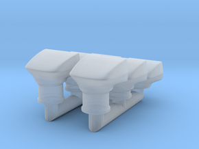 1/25 Cal Custom 40-30 Wedge Scoops x6 in Smooth Fine Detail Plastic