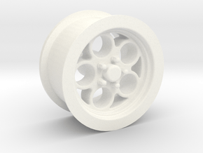 1/18 Muscle Machines Circle Rim Front in White Processed Versatile Plastic