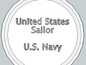 U.S. Sailor Pendant in Polished Gold Steel
