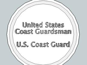 U.S. Coast Guardsman Pendant in Polished Gold Steel