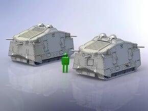 WWI German Sturmpanzer A7V Hedi Variant 1/285  in Smooth Fine Detail Plastic