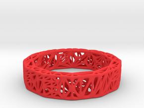 Voronoi Bi-Dodecagonal Bracelet in Red Processed Versatile Plastic