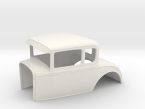 1930 Ford coupe 1/8 scale in White Natural Versatile Plastic