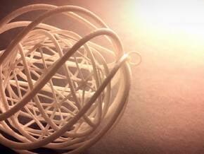 Suspended Icosahedron Ornament in White Natural Versatile Plastic