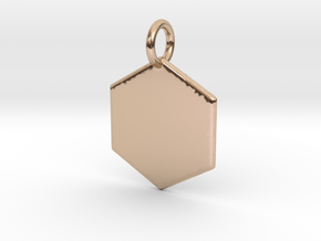 Cannivest Honey Comb Pendant in 14k Rose Gold Plated Brass