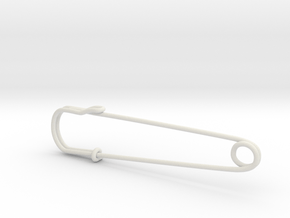 safety pin - Mona in White Natural Versatile Plastic