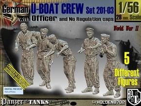 1/56 German U-Boot Crew Set201-03 in Smooth Fine Detail Plastic