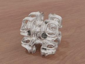 Cubic Lattice in White Natural Versatile Plastic