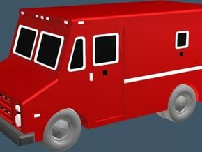 Armored Car - Z scale in Smooth Fine Detail Plastic