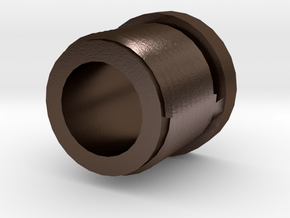 14mmx1 Negative Muzzle Thread Interface in Polished Bronze Steel