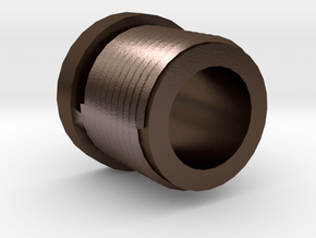 14mmx1 Positive Muzzle Thread Interface in Polished Bronze Steel
