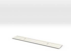 "12"" -O Gauge Concrete Street Track in White Natural Versatile Plastic"