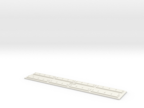 O gauge Direct F 12 track ECO in White Natural Versatile Plastic
