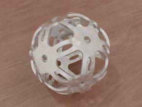 Well Rounded Symmetrical Sphere  in White Natural Versatile Plastic: Medium