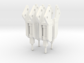 Equipment Jack Hammer 4 Pack 1-87 HO Scale in White Processed Versatile Plastic
