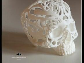 Bracciale Teschio in White Processed Versatile Plastic