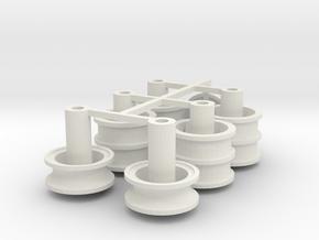 Velgen 4 gaten Lion Toys 20x 4,5mm in White Natural Versatile Plastic