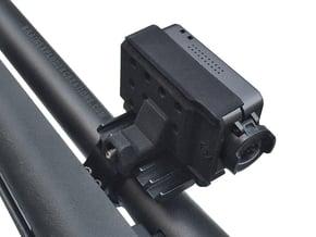 RunCam2 Side Rail Mount (Adjustable, Either Side,  in Black Natural Versatile Plastic