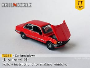 Car breakdown (TT 1:120) in Smooth Fine Detail Plastic