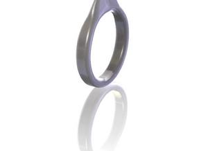 Guitar pick ring in White Natural Versatile Plastic