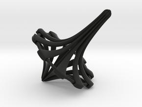 Radial Curiosity Top in Black Premium Versatile Plastic