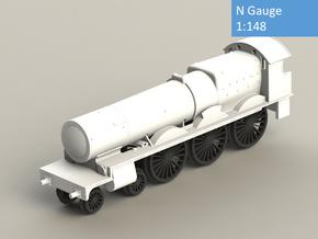 GWR 2900 Class locomotive, straight frame, N gauge in Smoothest Fine Detail Plastic