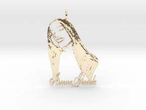 Ariana Grande Pendant - Ariana Grande Fan Pendant  in 14K Yellow Gold